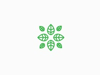 Leaf wellness logo concept