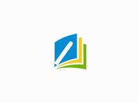 Pencil + Book logo idea