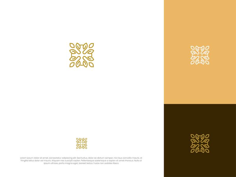 Lux logo design luxurious elegant style fashion branding vector line simple illustration design rantaucreative logo icon