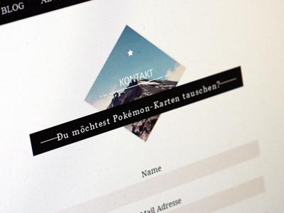 Contact form Dotwired stamp postmark texture webdesign marlon deer