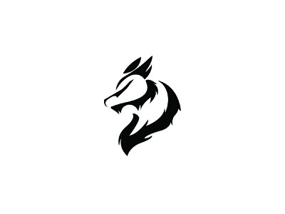 Wolf Minimal minimal branding flat vector icon design logo illustration