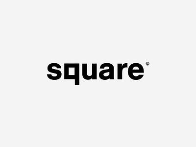 Square Logotype inspiration creative mark corporate branding visual smart brand clean illustrator lettering identity type flat logo typography vector minimal icon design branding