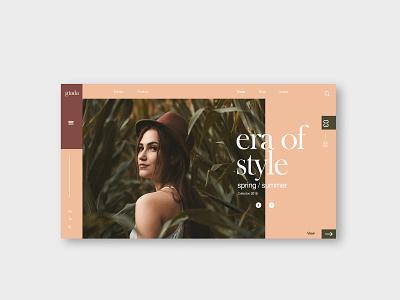 Website - Giada layout web design interace ui  ux design visual design landing page web identity designer graphic design typography clean adobe minimal branding ui