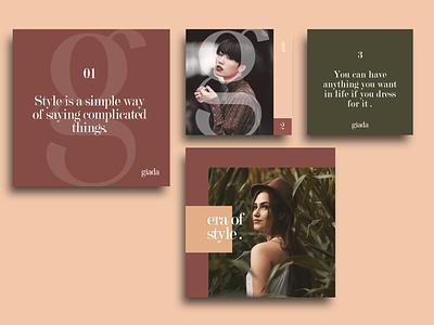 Brand identity - Giada color shapes brand design identity clean typography design adobe minimal logo branding