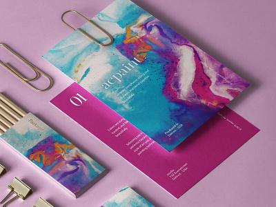Acpaint | Brand Identity typogaphy shapes minimal layout  logo graphic designer design color clean branding brand design brand and identity adobe