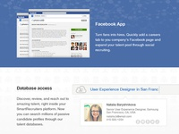 Facebook app email section