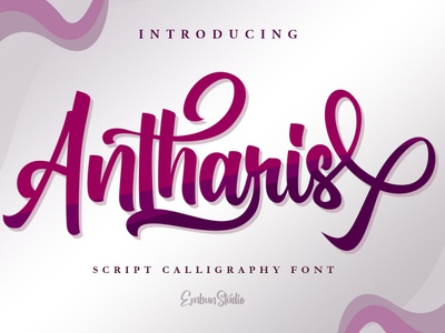 Antharis Magical Font script calligraphy typography hand lettering business font