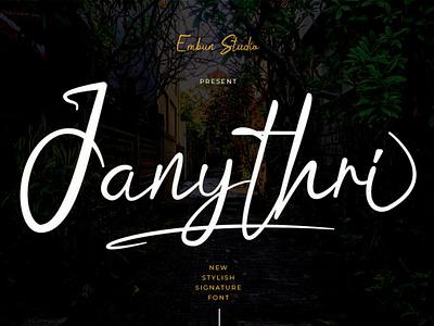 Janythri Stylish Signature Font elegant modern signature logo handwritten handwriting hand lettering font design font business