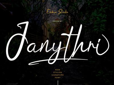 Janythri Stylish Signature Font