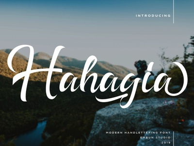 Hahagia Modern Handlettering Font