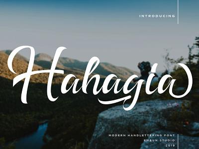Hahagia Modern Handlettering Font typography typeface branding modern handwritten handwriting hand lettering font font design business
