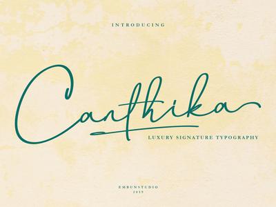 Canthika Luxury Signature Font