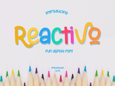 Reactivo Fun Display Font design branding logo handwriting hand lettering font design font business
