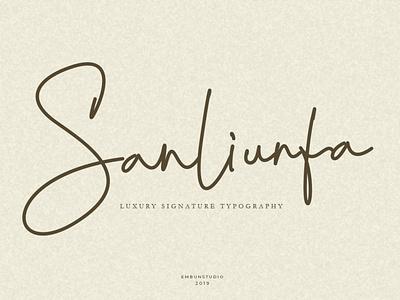 Sanliurfa Luxury Signature Font signature typography branding modern logo handwritten handwriting hand lettering font design font