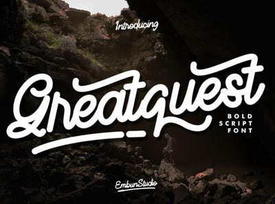 Greatquest - Bold Script Font