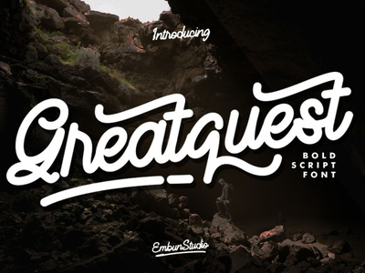 Greatquest - Bold Script Font project branding typography typeface handwritten business handwriting hand lettering font design font