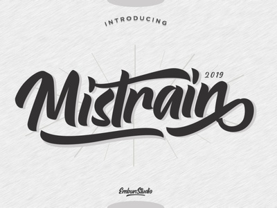 Mistrain Modern Hand Lettering project script typography logo business handwriting hand lettering font