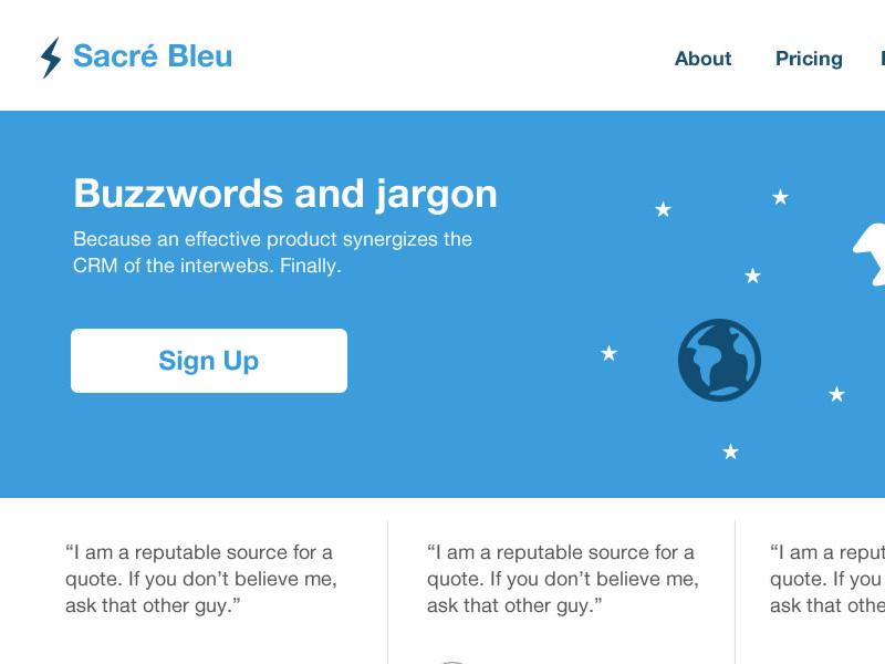 Sacré Bleu blog mockup theme blue bleu french
