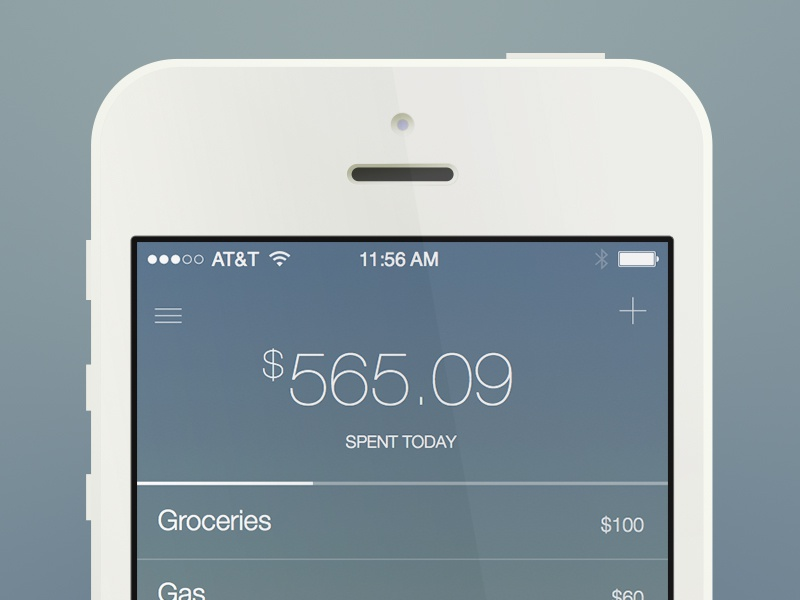 I really need to cut back ios 7 app iphone execute money ledger helvetica neue