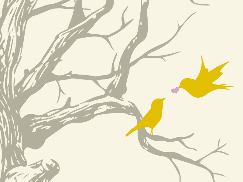 Love Birds (get it?! I'll show myself out) wedding birds illustration
