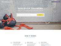 Trainersvault Website Design Idea