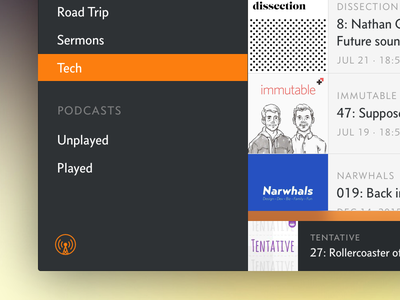 Overcast Creative Exploration app mac overcast podcasts music player