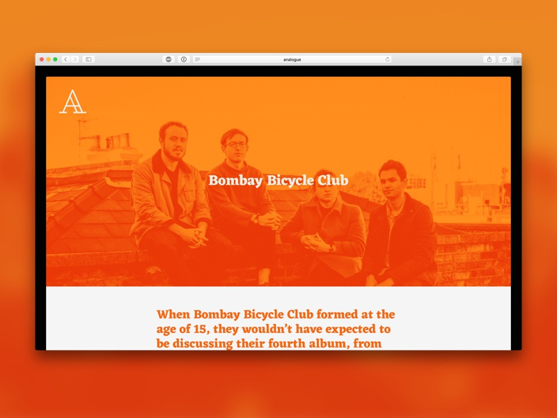 #britishindierock orange music magazine website article