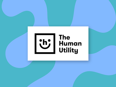 Human Utility Logo graphic simple human utility logo