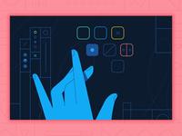 Asana Business Header button clean pattern texture campaign hands hand vector header
