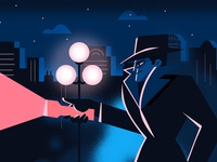 Youtube Concept: Detective photoshop character design character texture illustration logo asana detective youtube