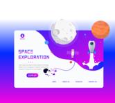 Space Exploration Website Landing Page