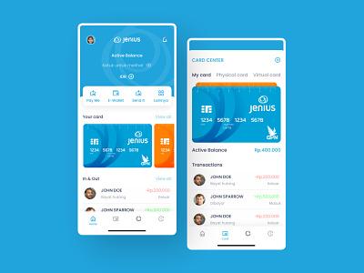 Jenius App Redesign banking app finance app uiuxdesign redesign app concept app design ios app design design ui  ux ui design app ui