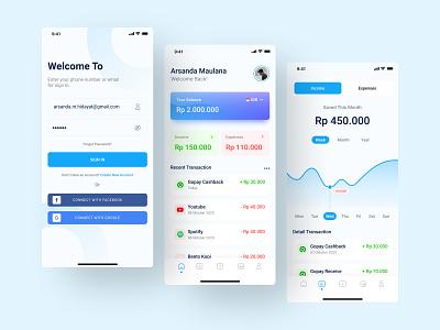 Financial App clean design uidaily uidailychallenge uidesign mobile app app design mobile app design mobile design mobile ui uiuxdesign ui ui design design