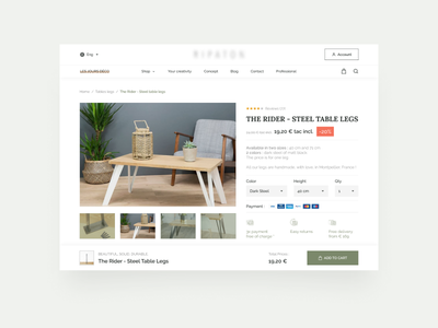 Product page - details furniture website clean ui ecommerce website uidesign website design web web design uiuxdesign ui  ux ui ui design design