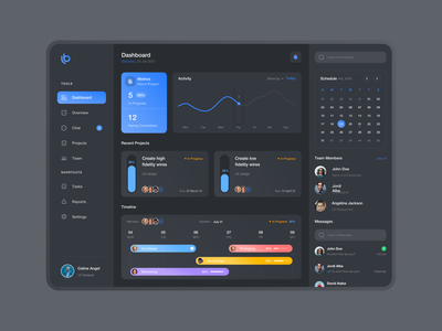 Task management - Dark Mode dashboard design exploration uiuxdegner weeklyui dashboard ui dark dashboard web design ui web uiuxdesign ui  ux ui design design