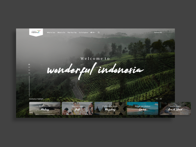 Redesign wonderful indonesia website website concept web design websites web landing pages landingpage ui  ux wonderful indonesia travel website uiuxdesign ui design uiux ui