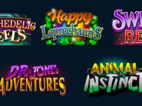 Logos for slots machine
