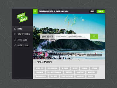Find a Race craftcms ui responsive website