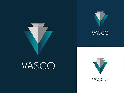 Vasco logo branding app vasco