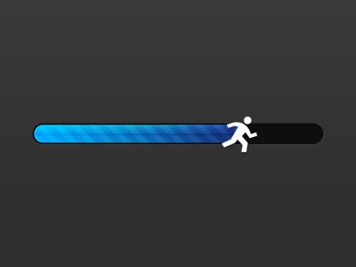 Progress Bar Runner runner progress bar blue
