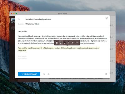 Day 017 - Compose Email inbox desktop client small email osx el capitan apple interface widget ui