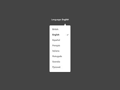 Day 021 - Language Selector dropdown english selector language