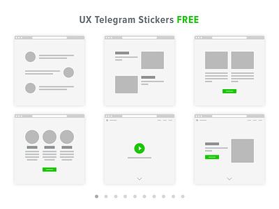 UX prototyping Telegram Stickers ux telegram sticker prototyping