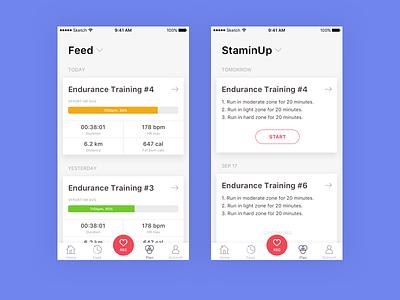 Feed Training app ios app endurance sport training
