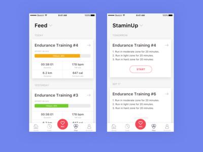 Feed Training app