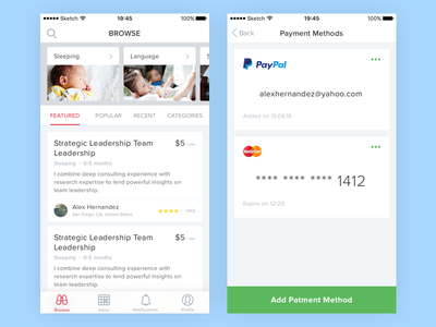 Parents app clean browse ios mobile app parents methods payment