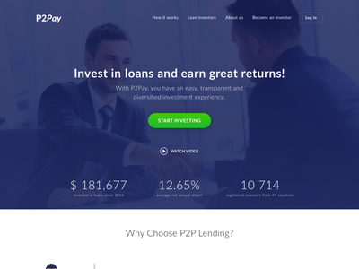 Invest Landing Page finance invest page landing