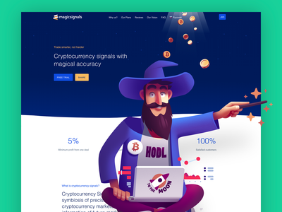 Magic Signals landing page landing pages landing page landingpage landing design ux ui