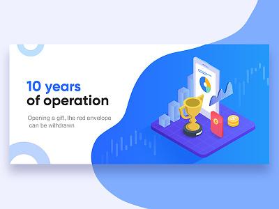 finance UI blue clean ui brand app illustration