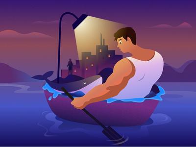 night illustration